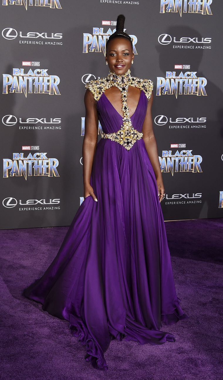Lupita Nyong'o on Black Panther Red Carpet / Chris Pizello/AP