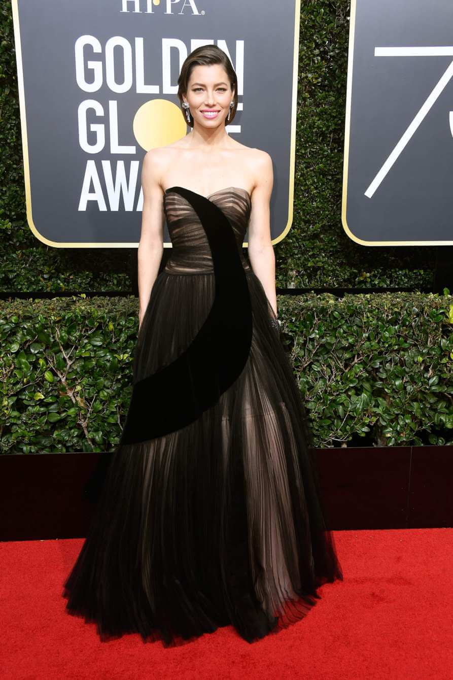 Nominee Jessica Biel at the 2018 Golden Globes