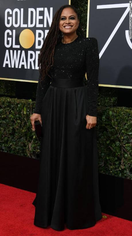 Ava DuVernay arrives for the 75th Golden Globe Awards on January 7, 2018, in Beverly Hills, California. / AFP PHOTO / VALERIE MACON (Photo credit should read VALERIE MACON/AFP/Getty Images)