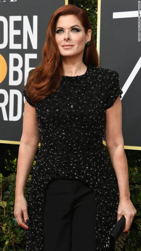 Actress Debra Messing arrives for the 75th Golden Globe Awards on January 7, 2018, in Beverly Hills, California. / (Photo credit VALERIE MACON/AFP/Getty Images)
