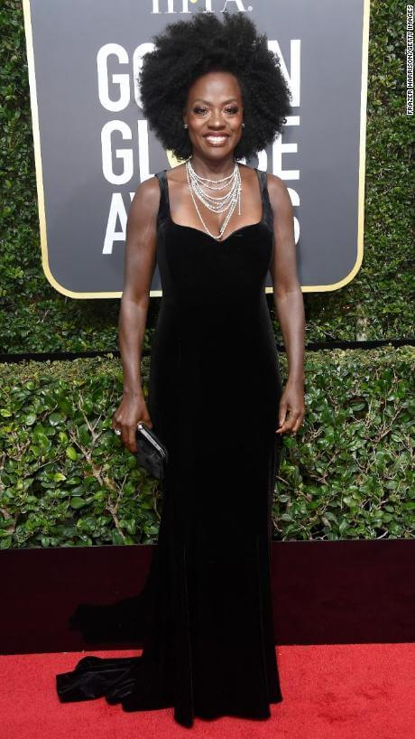 BEVERLY HILLS, CA - JANUARY 07: Actor Viola Davis attends The 75th Annual Golden Globe Awards at The Beverly Hilton Hotel on January 7, 2018 in Beverly Hills, California. (Photo by Frazer Harrison/Getty Images)
