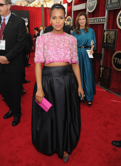 Kerry Washington in Prada at the 2014 SAG Awards.