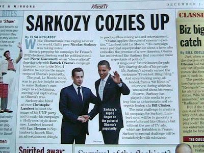 Sarkozy Hearts Obama