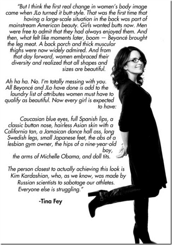 Tina Fey on Body Image