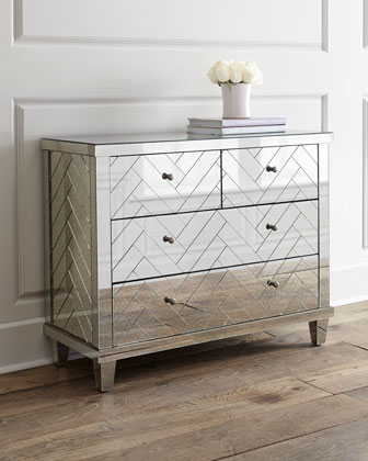 Chevron mirrored chest from Horchow