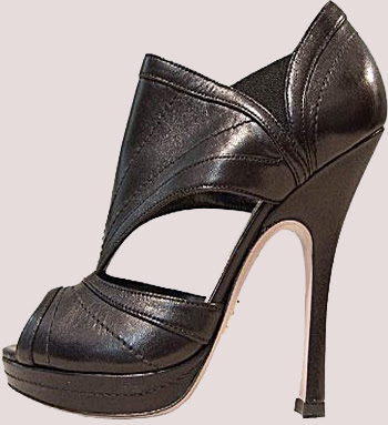 black stiletto sandal