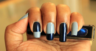 ColorBlock Nail Art for Fall - colorblock nails