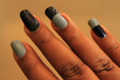 colorblock nail for fall