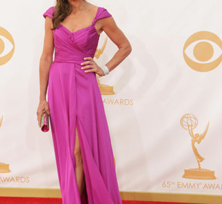 2013 Emmy Awards - Allison Janney in fuchsia.
