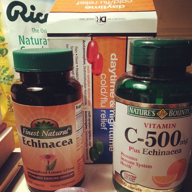 Echinacea, Vitamin C and Ricola cough drops