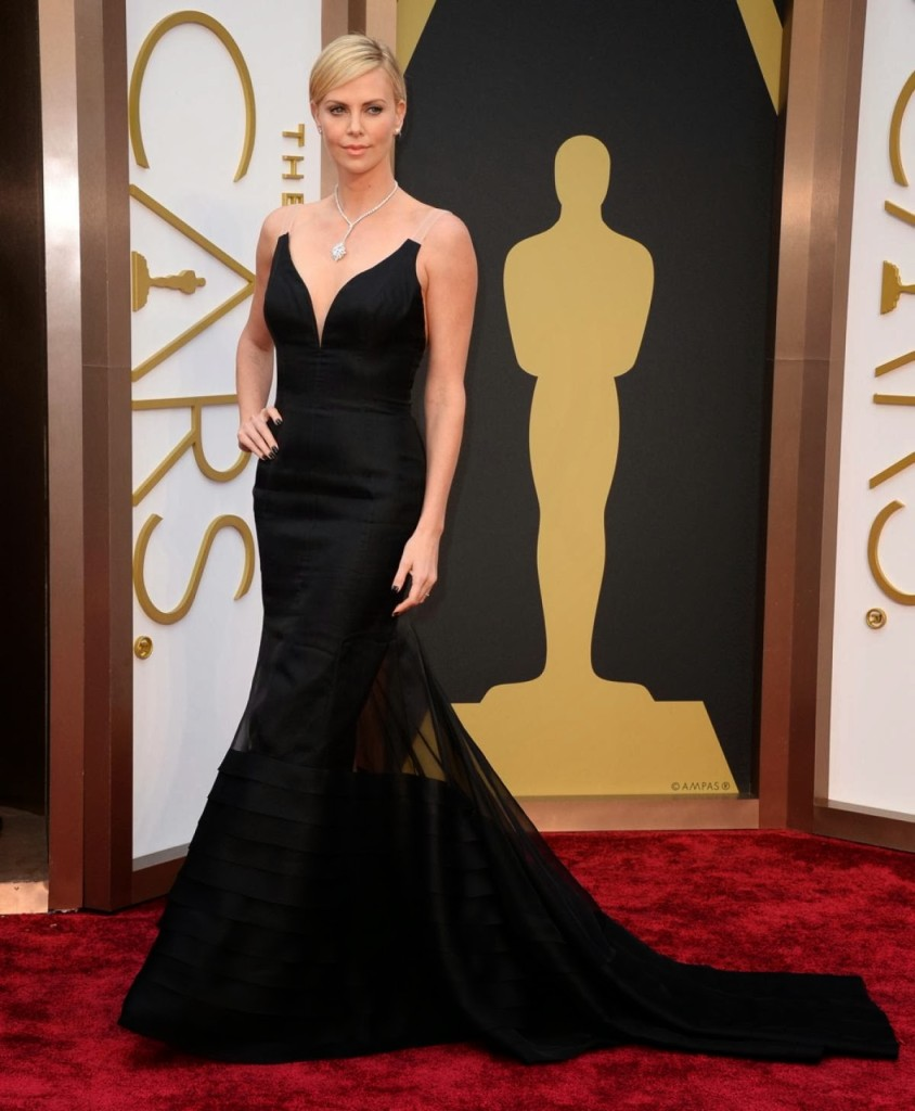 Charlize Theron in Dior, Academy Awards, Oscars 2014