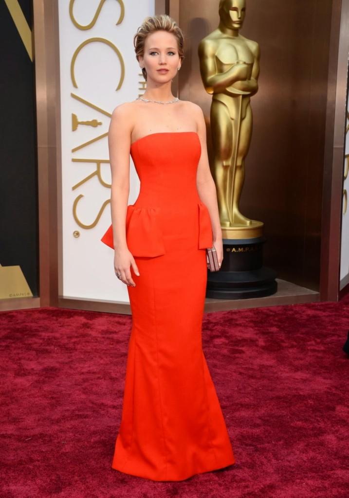 Jennifer Lawrence in Dior, Oscars 2014, Academy Awards