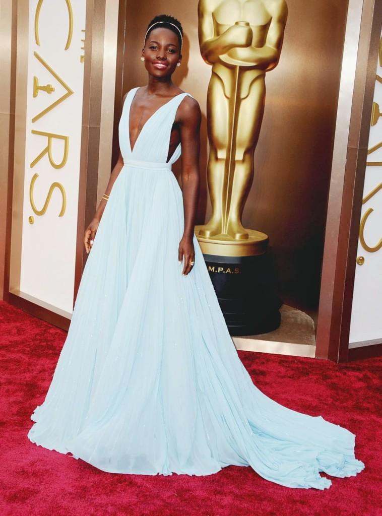 Lupita Nyong'o in Prada, Academy Awards, Oscars Red Carpet 2014