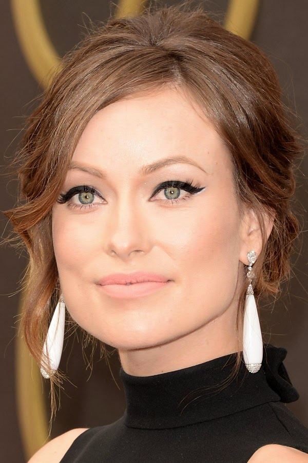 Best hair and makeup of the 2014 Oscars. Olivia Wilde. cat eye