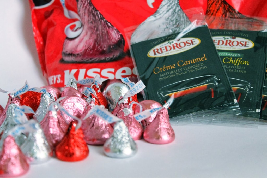 Hershey's Kisses and Red Rose Creme Caramel Tea courtesy of Influenster