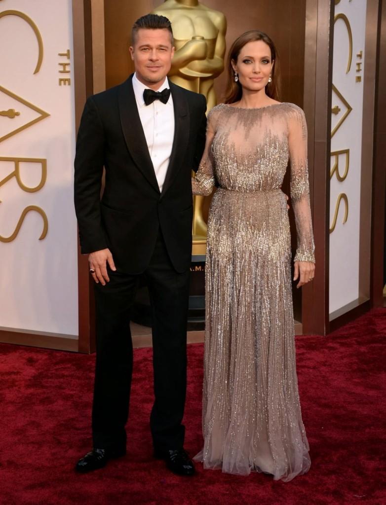 Angelina Jolie in Elie Saab, Academy Awards, Oscars 2014