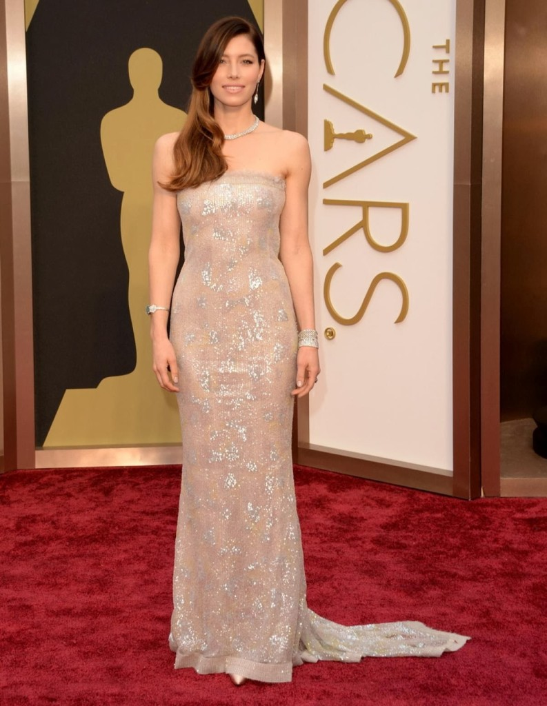 Jessica Biel in Chanel Couture, Academy Awards, Oscars 2014