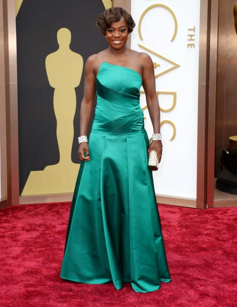 Viola Davis in Escada, Oscars 2014, Academy Awards