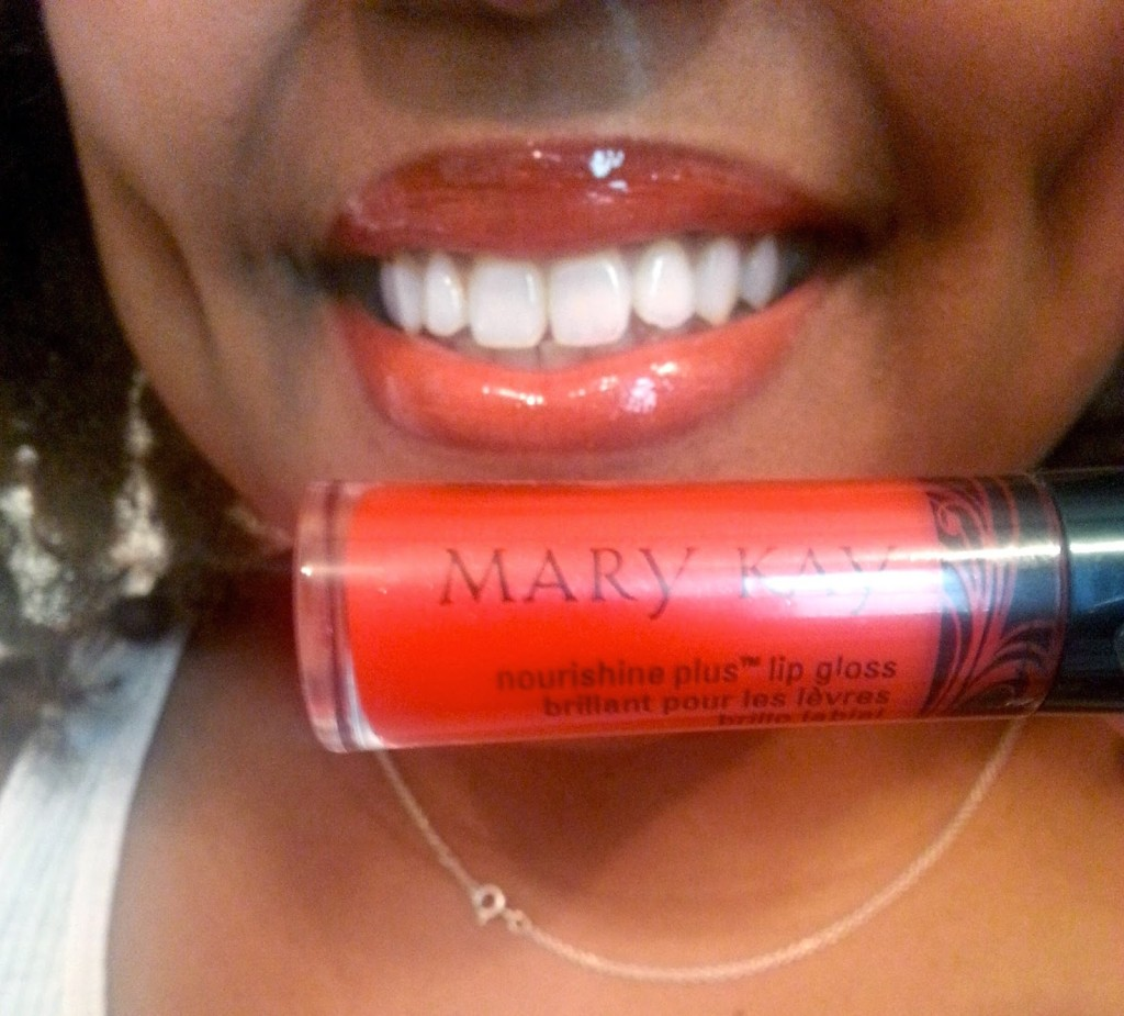 How does Mary Kay NouriShine Plus Lip Gloss look on my lips? #MKGlam