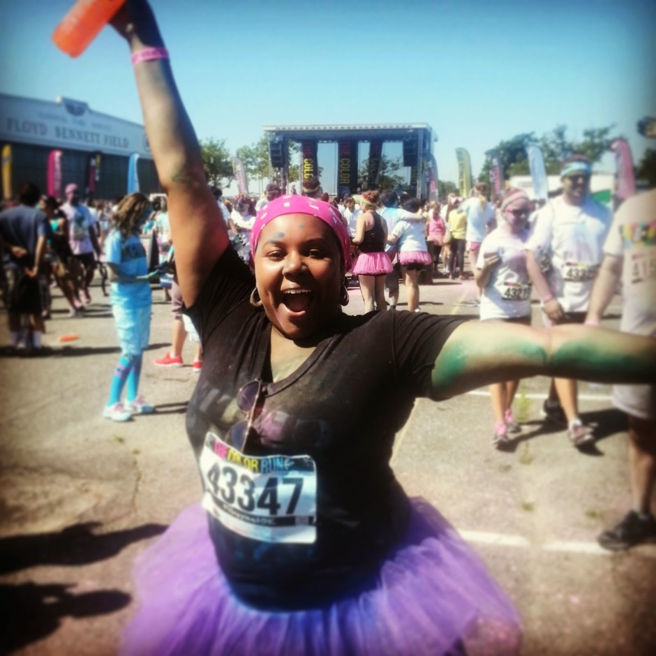 patranila-celebrates-finishing-the-color-run-5k
