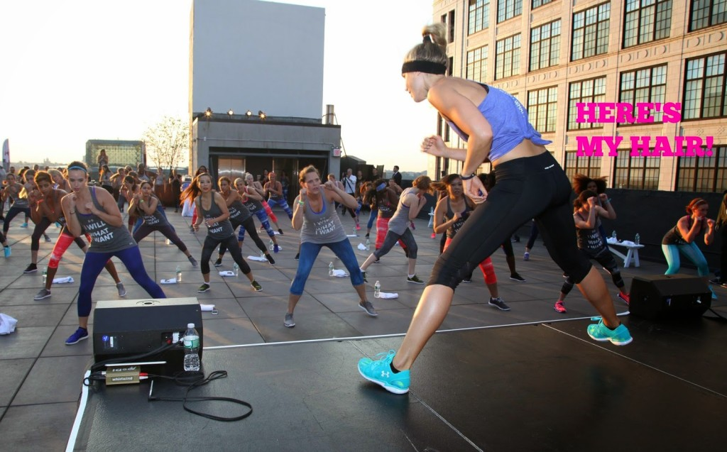High-intensity NUfit rooftop workout with Natalie Uhling.