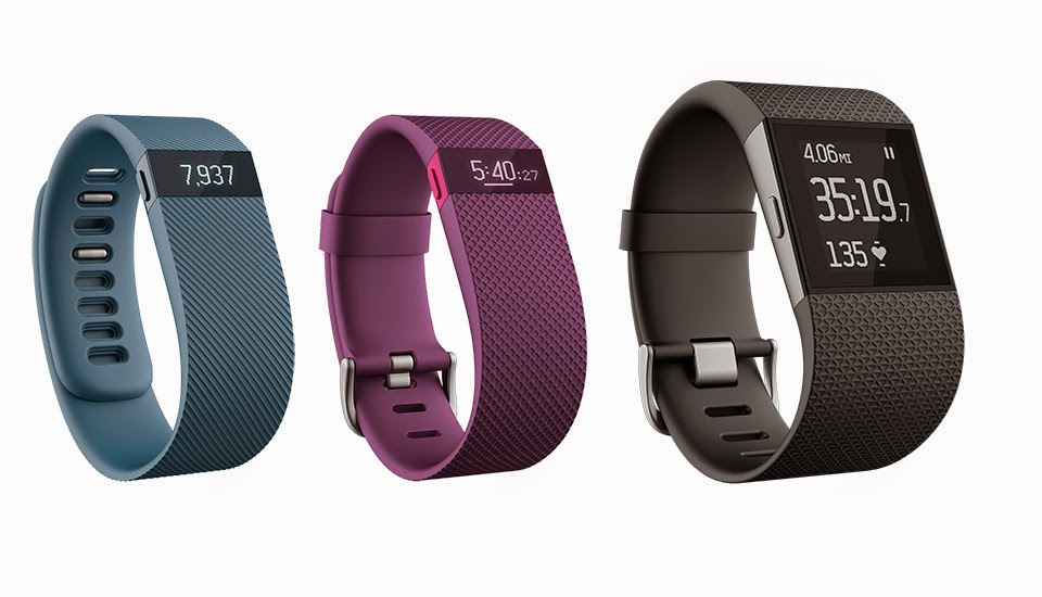 Fitbit Trio: Charge, ChargeHR and Surge