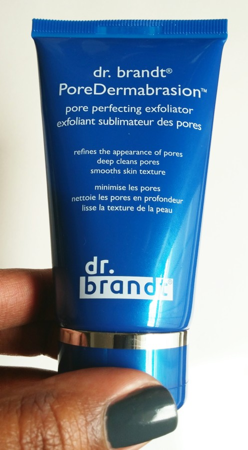 Dr. Brandt PoreDermabrasion Exfoliator. A chemical and physical exfoliator good for all skin types.