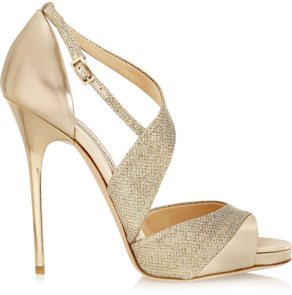 Jimmy Choo Tyne Metallic Leather - Perfect Holiday Shoe