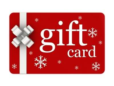 Last Minute Gifts for Stragglers - National Chain Gift Cards