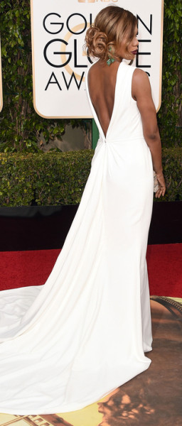 Golden Globes 2016 - Laverne Cox in Elizabeth Kennedy