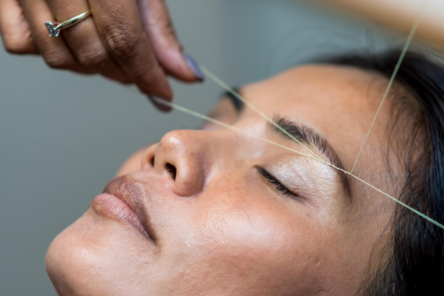 eyebrow threading groupon