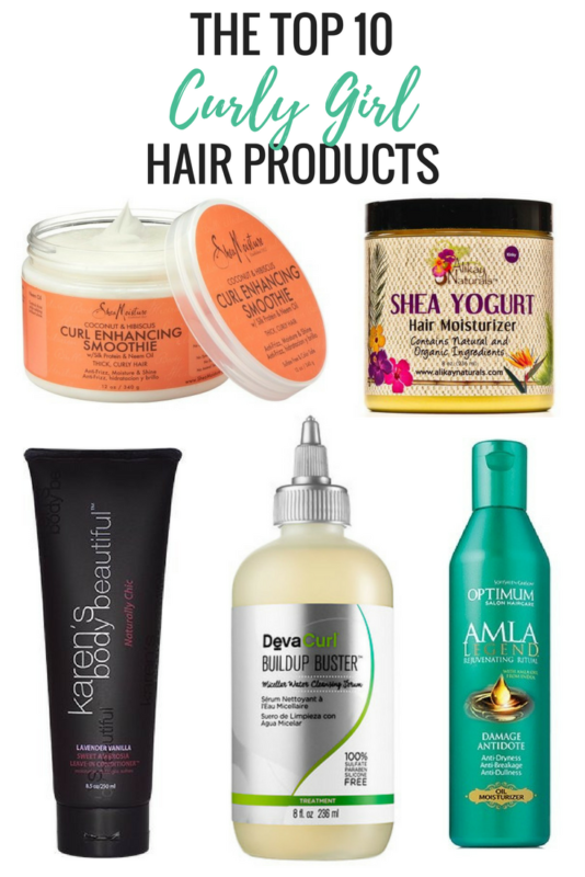 Top 10 natural hair care products for curly, coily, kinky hair.