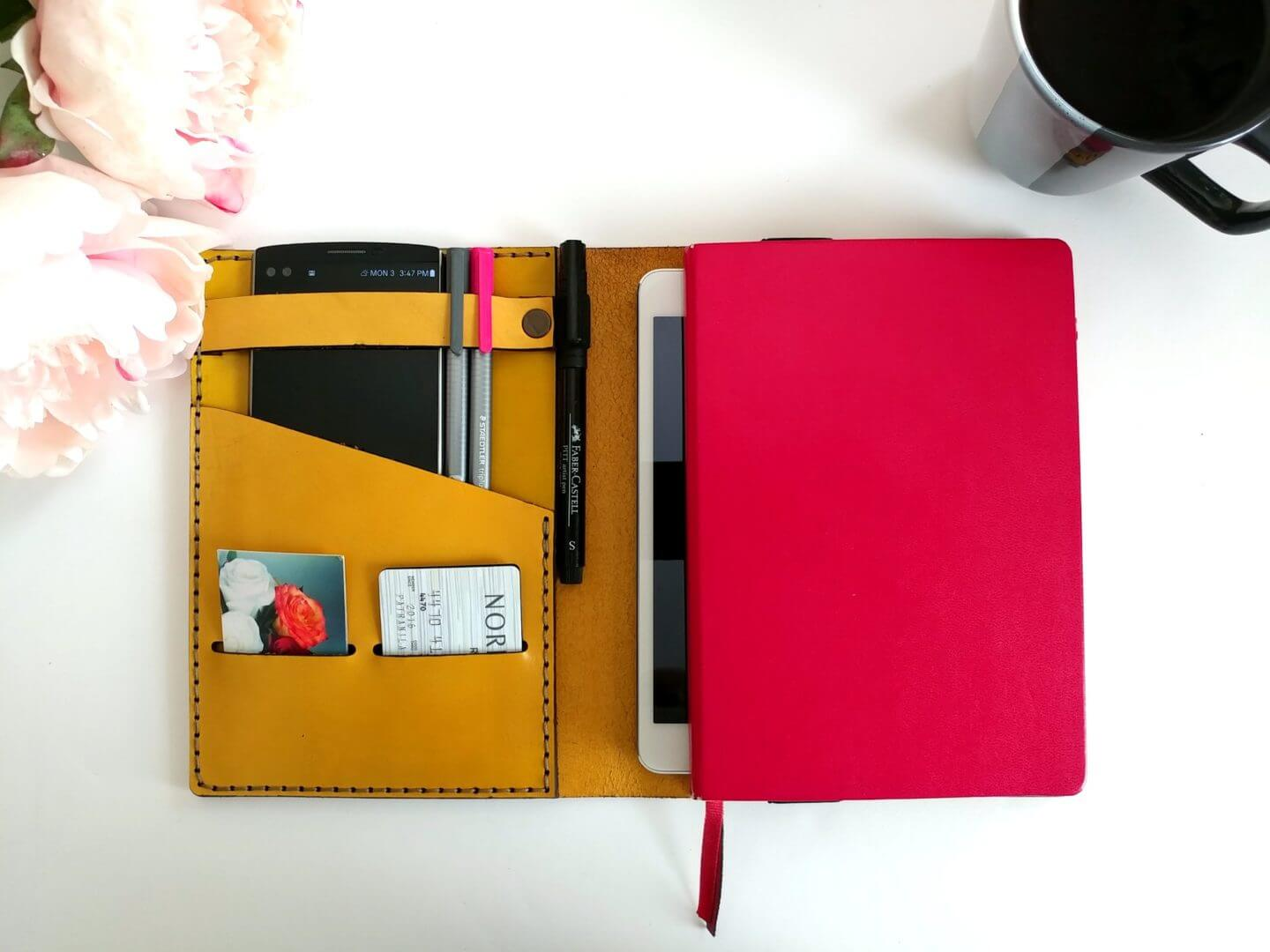 bullet journal leather cover the patranila project