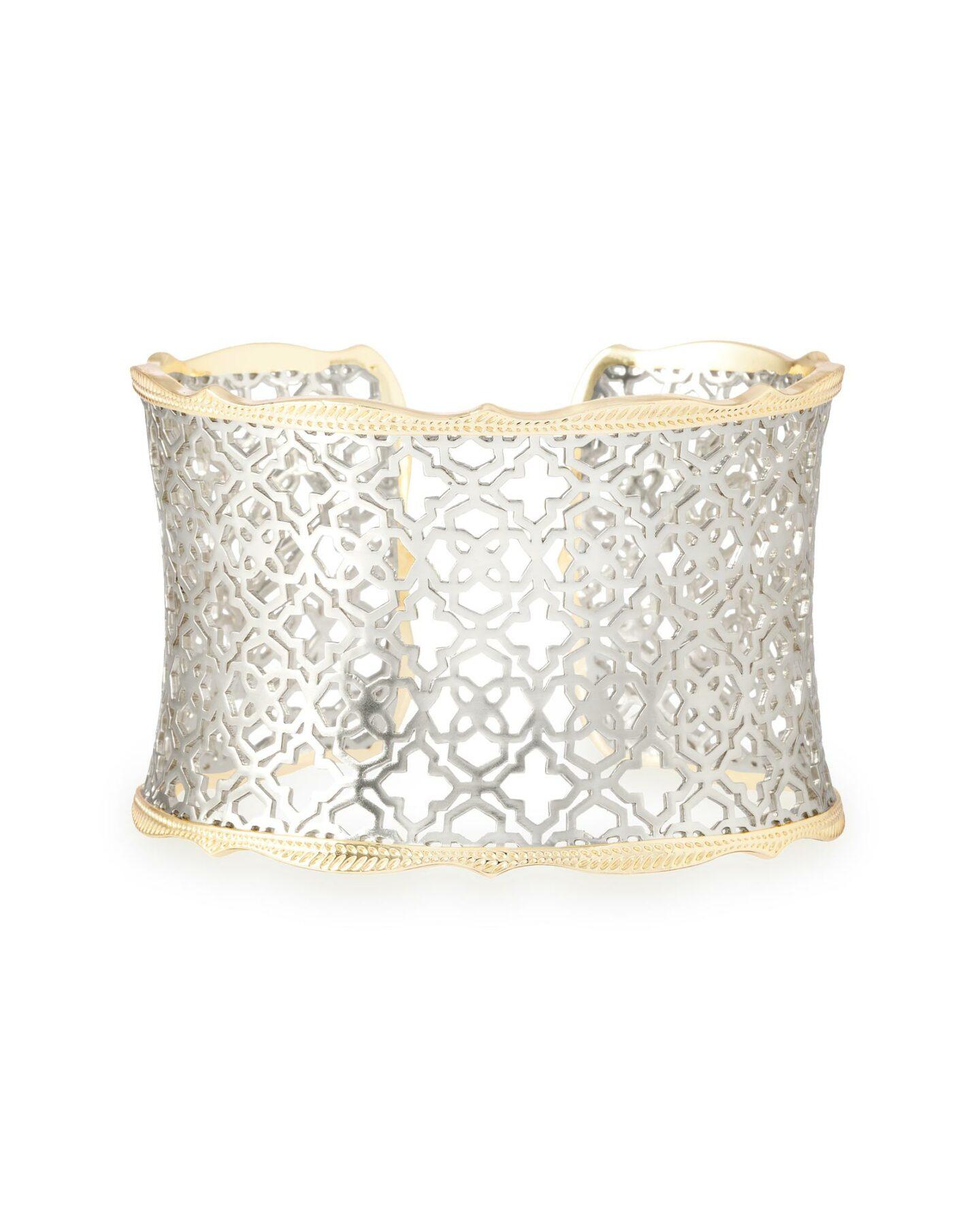 kendra scott candice cuff bracelet silver and gold