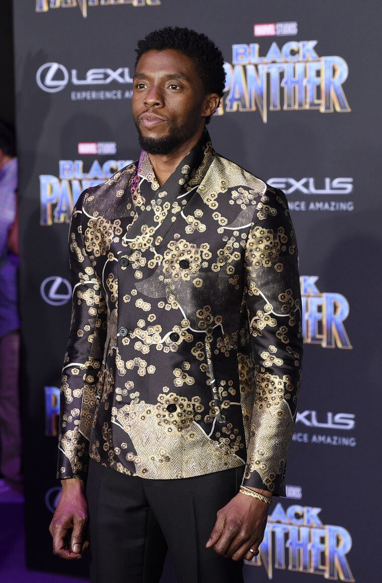 Black Panther star Chadwick Boseman on the red carpet