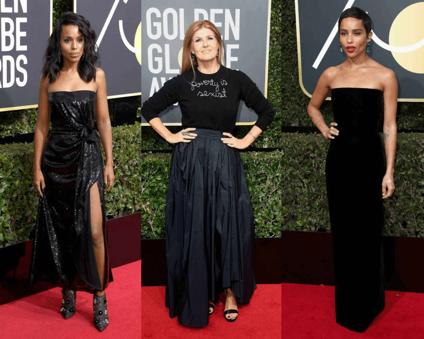 Hollywood Goes Black On The Golden Globes 2018 Red Carpet