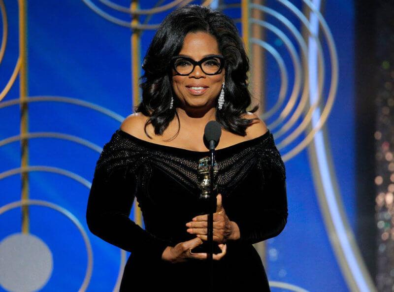 oprah winfrey 2018 golden globes