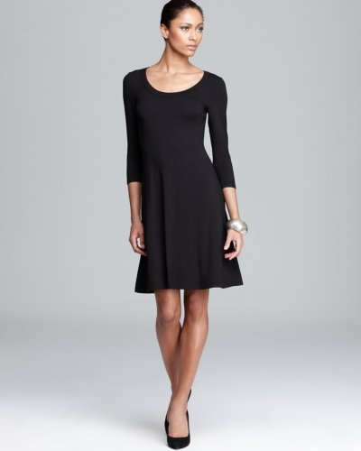 Karen Kane Three Quarter Sleeve A-Line Dress