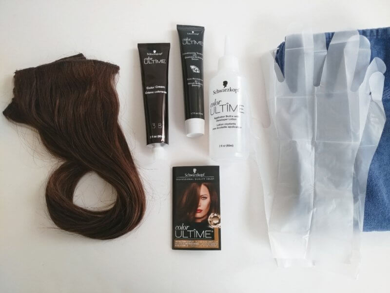 at home hair color for extensions