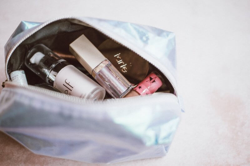 spring clean makeup bag