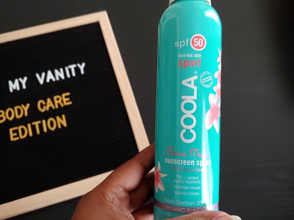 body care products - coola sunscreen spray