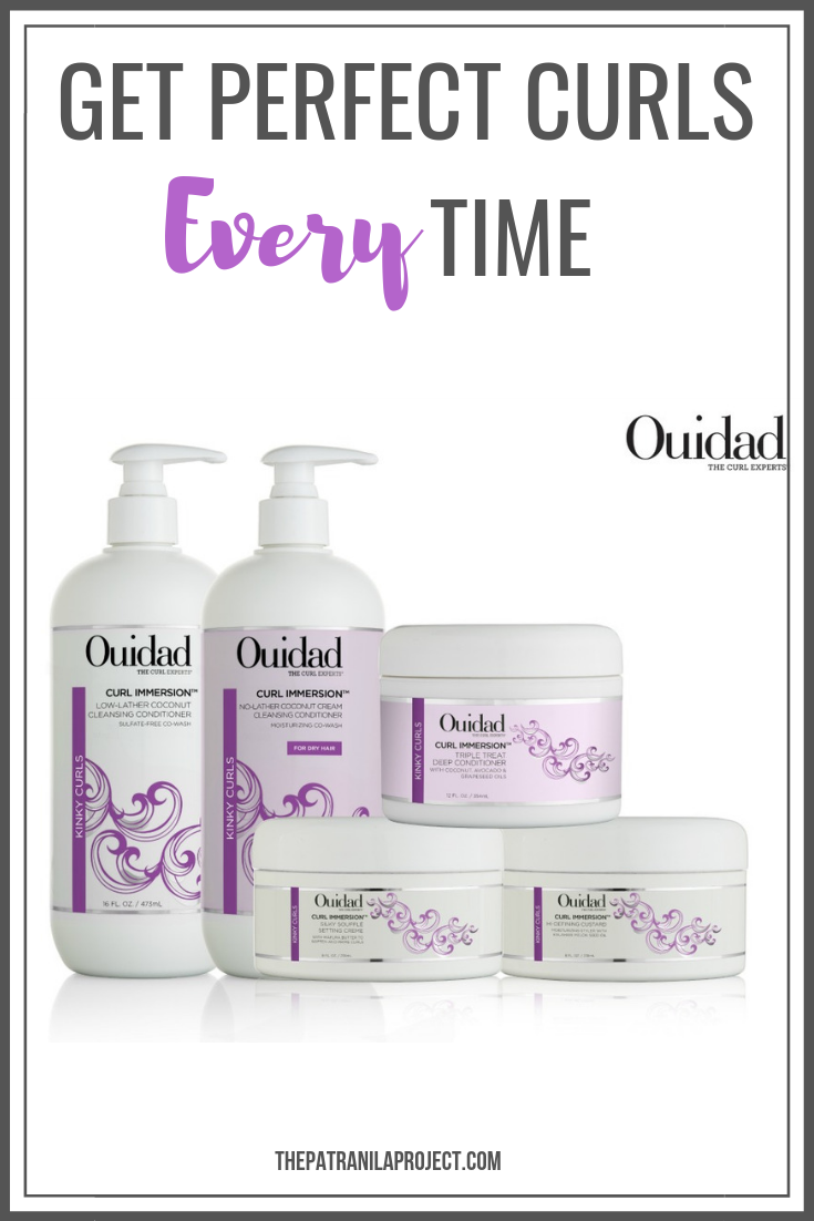 Curl defining products for natural hair. Prevent frizz, eliminate dry ends, and define your curls with Ouidad Curl Immersion Kit. #naturalhair #hairproducts