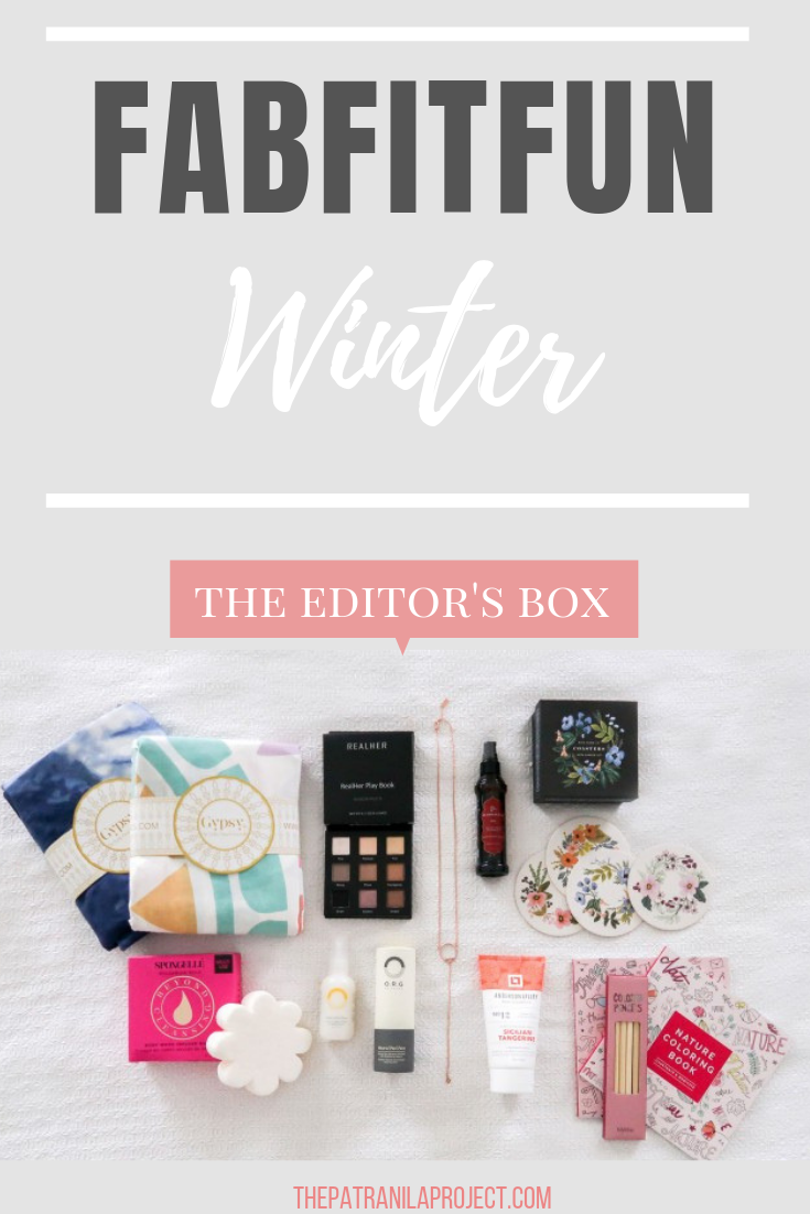 The FabFitFun Winter Editor's Box Unboxed. Valued at over $350, this subscription box is full of products in beauty, style, home, and wellness.