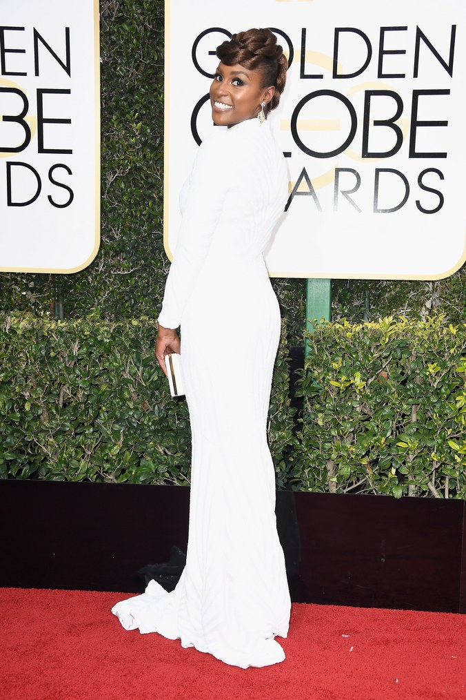 issa rae white gown golden globes