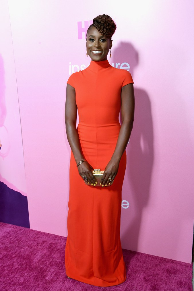 issa rae red gown