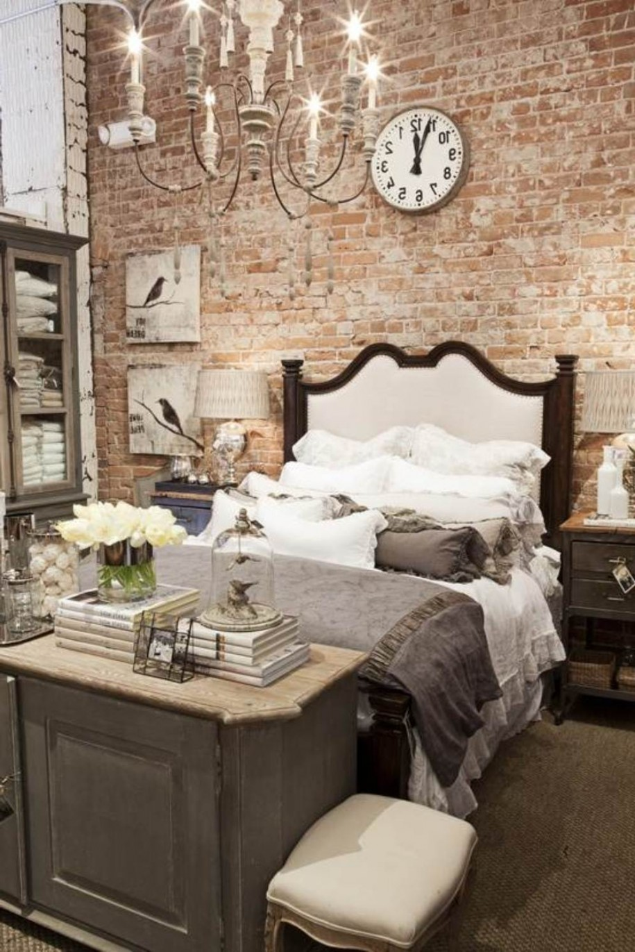 romantic industrial bedroom decor