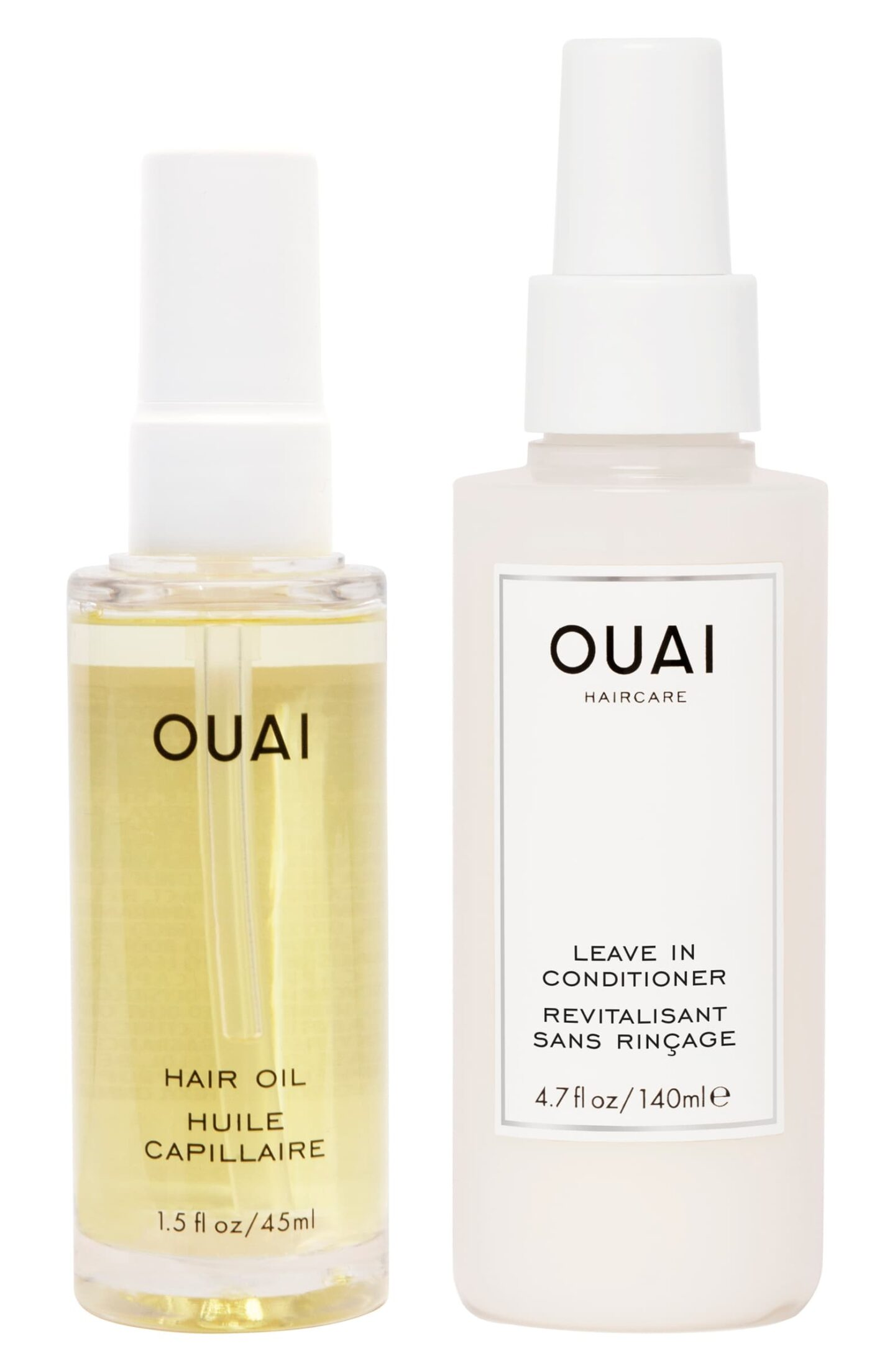 ouai thirsty hair oil and leave-in conditioner