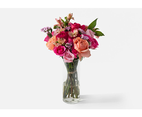 Urban Stems breast cancer awareness bouquet