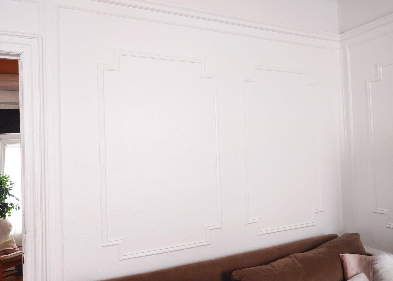 plain white living room wall