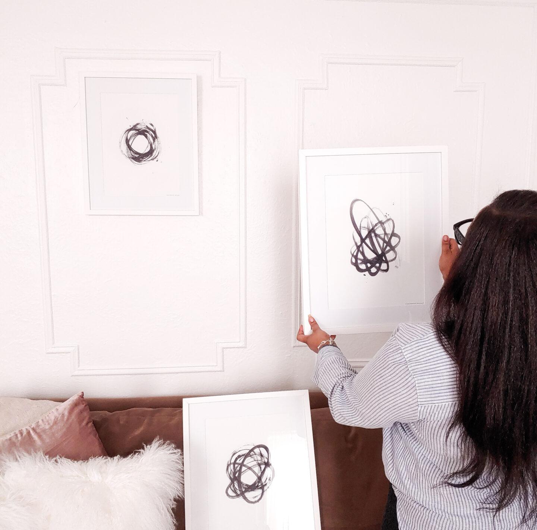 patranila updates her living room with art